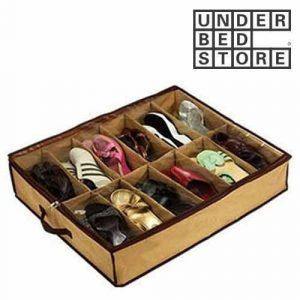 12 delni organizator čevljev za pod posteljo
