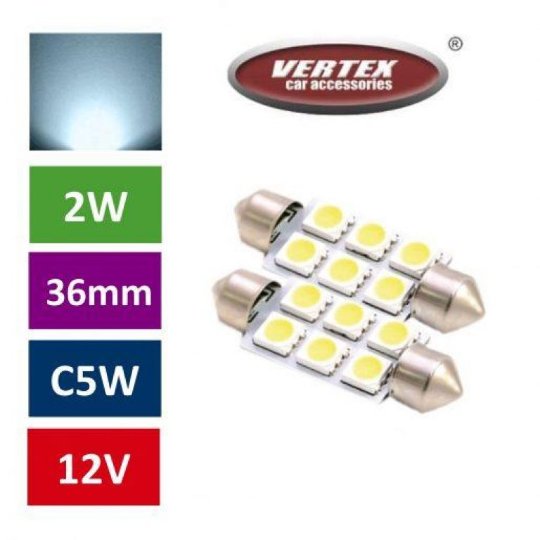 Avto LED žarnica (sijalka) C5W 6 SMD 36mm 2 kosa
