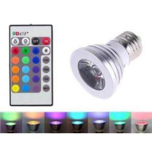 RGB LED sijalka z daljincem