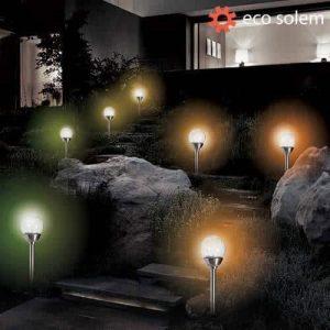 Steklena solarna svetilka Eco Solem
