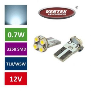 T10 4 LED avto LED žarnica (sijalka) 2 kosa