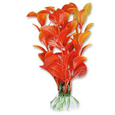 Akvarijska rastlina umetna 10cm rdeča