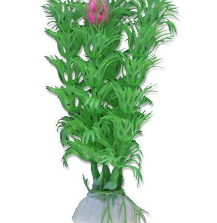 Akvarijska rastlina umetna 10cm zelena s cvetom