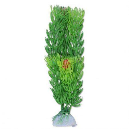 Akvarijska rastlina umetna 20cm zelena s cvetovi