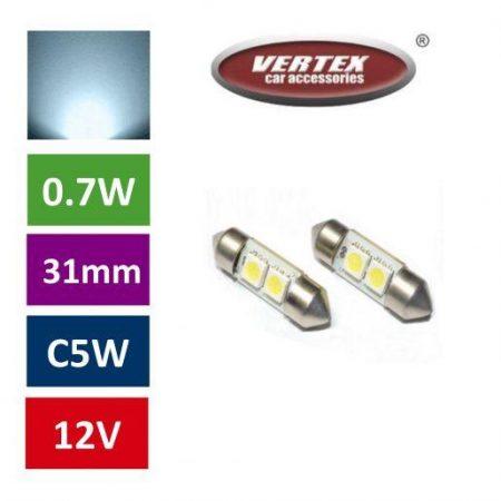 Avto LED žarnica (sijalka) C5W 2 SMD 31mm 2 kosa