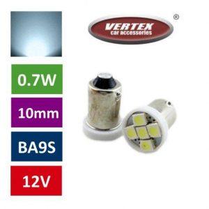 BA9S 4 LED avto LED žarnica (sijalka)bela 2 kosa