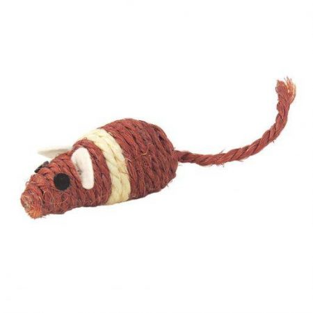 Igrača za mačke miš 4,5cm rjava