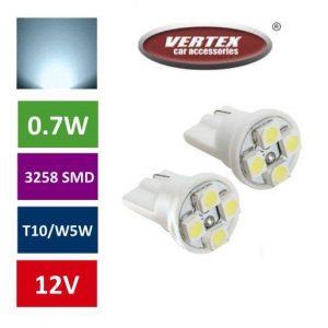 T10 4 LED avto LED žarnica (sijalka) bela 2 kosa