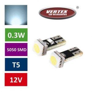 T5 1 SMD LED avto LED žarnica (sijalka) 2 kosa