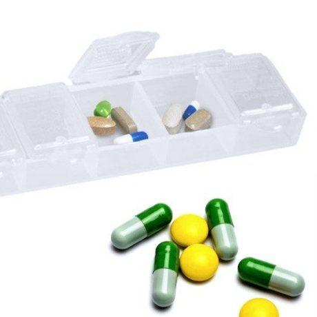 Tedenska škatlica za organizacijo tablet
