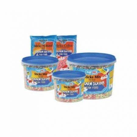 Plavajoča hrana za večje ribe v vedru KOI MIX 3L