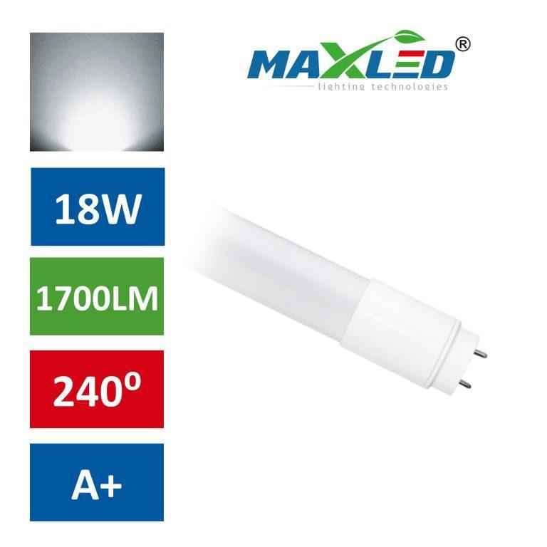 LED žarnica - sijalka cevna T8 PVC 120cm 18W (36W) nevtralno bela max-led
