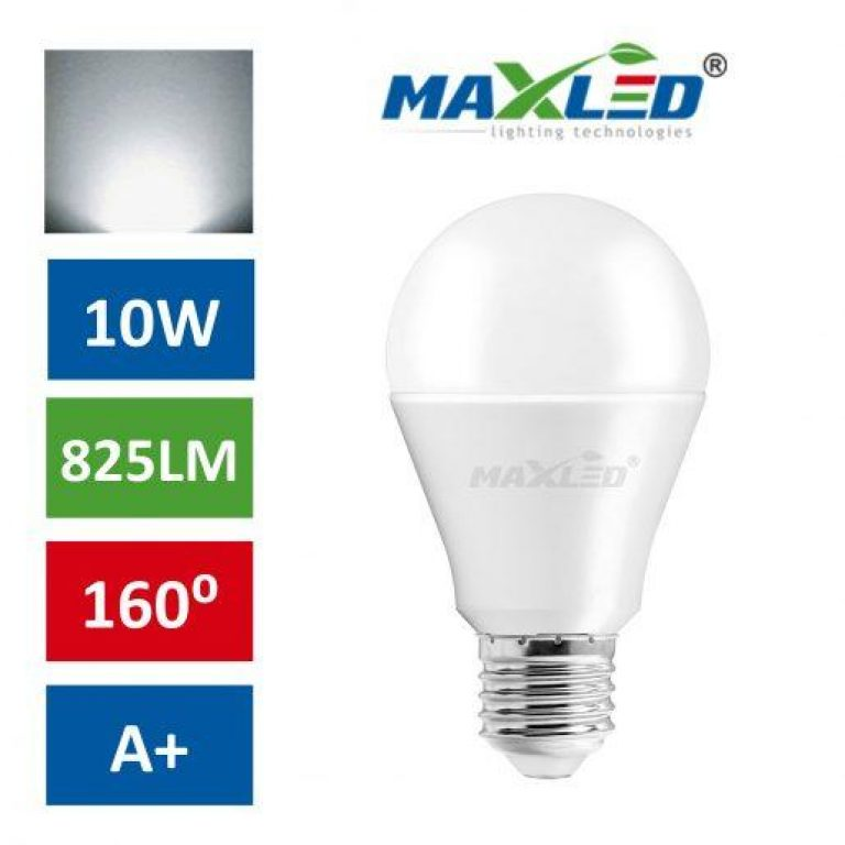 LED žarnica - sijalka E27 10W (60W) nevtralno bela 4500K MAX-LED