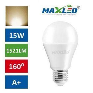 LED žarnica - sijalka E27 15W (100W) toplo bela 3000K MAX-LED