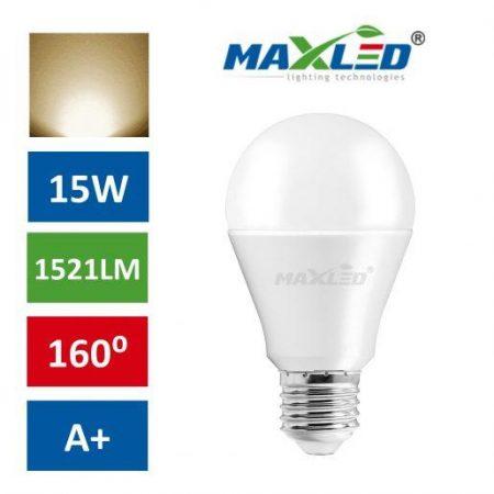 LED žarnica - sijalka E27 15W (100W) 1521lm toplo bela 3000K MAX-LED