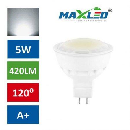 LED žarnica - sijalka MR16 5W (40W) nevtralno bela 4500K MAX-LED
