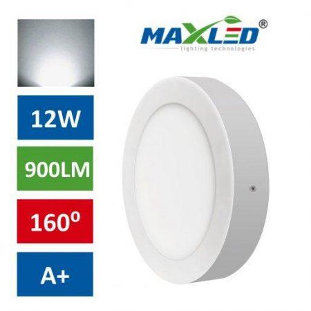 LED stropna svetilka 12W nevtralno bela max-led