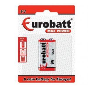 Baterija 9V Eurobatt