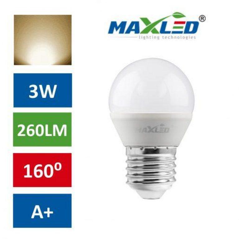LED žarnica - sijalka E27 3W (30W) toplo bela 3000K MAX-LED