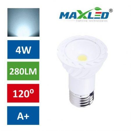 LED žarnica - sijalka E27 4W (30W) COB hladno bela 6000K