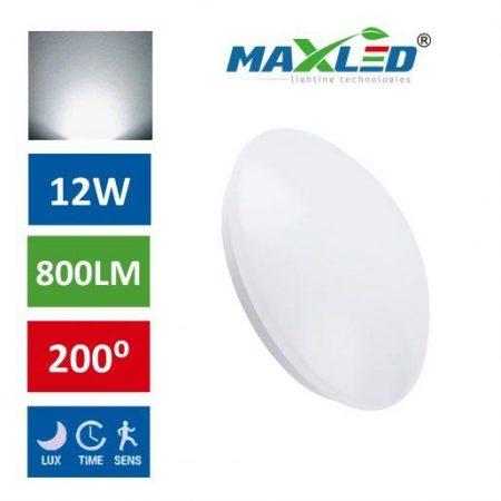 LED plafoniera 12W s senzorjem gibanja nevtralno bela