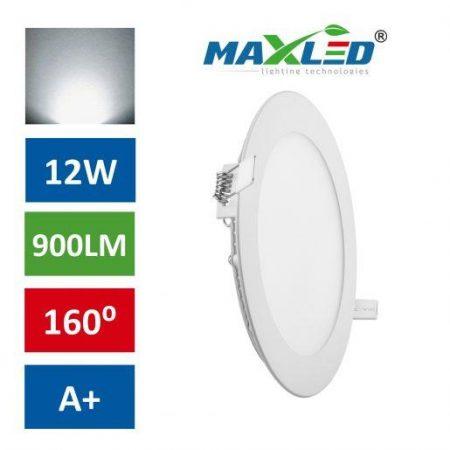 LED vgradna svetilka 12W okrogla nevtralno bela max-led