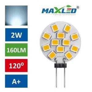 LED žarnica - sijalka G4 2W (15W) 12V hladno bela 6000K MAX-LED
