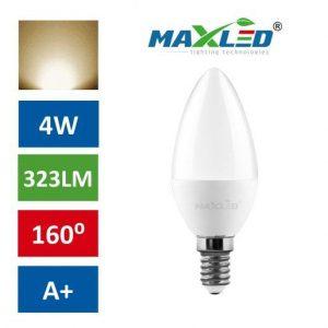 LED žarnica - sijalka E14 4W (35W) toplo bela 3000K MAX-LED