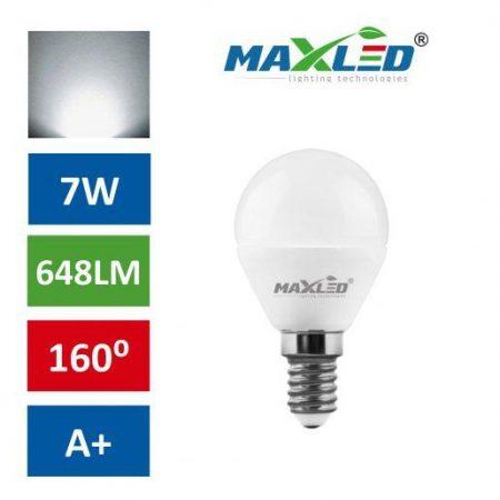 LED žarnica - sijalka E14 7W (55W) nevtralno bela 4500K MAX-LED