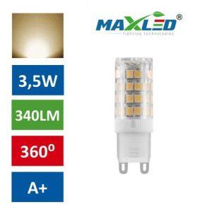 LED žarnica - sijalka G9 3,5W (25W) toplo bela 3000K MAX-LED