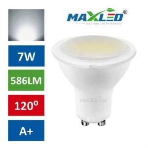 LED žarnica - sijalka GU10 7W (55W) nevtralno bela 4500K MAX-LED