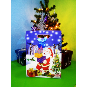 Božična darilna vrečka 26x19cm
