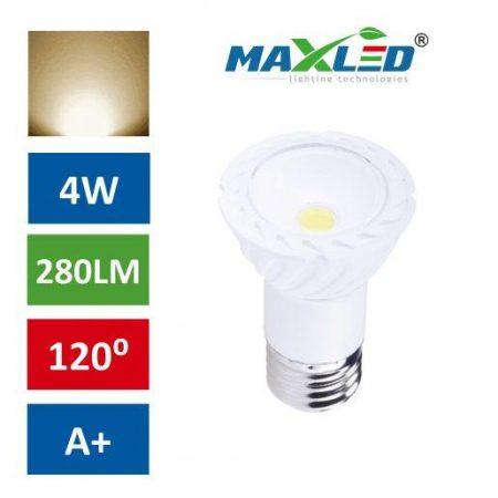 LED žarnica - sijalka E27 4W (30W) COB toplo bela 3000K