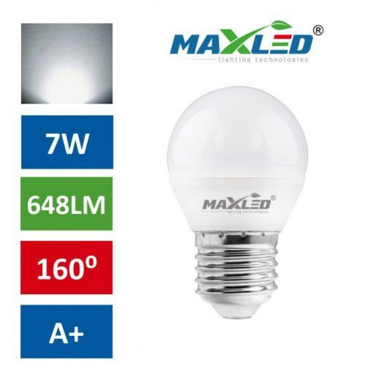 LED žarnica - sijalka E27 7W (55W) nevtralno bela 4500K
