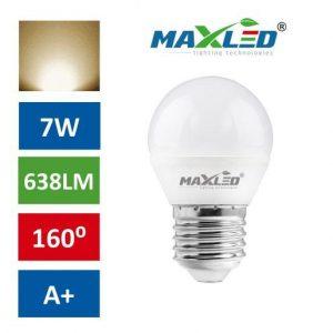 LED žarnica - sijalka E27 7W (55W) toplo bela 3000K