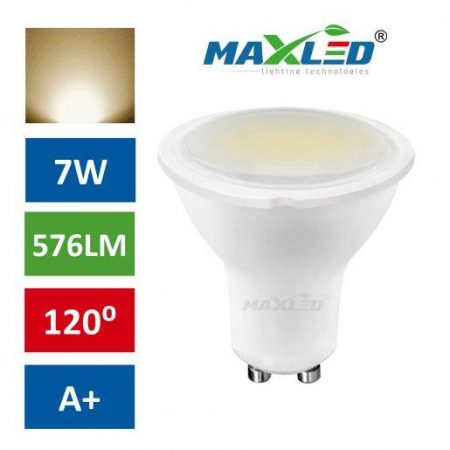 LED žarnica - sijalka GU10 7W (55W) toplo bela 3000K MAX-LED