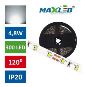 LED trak 2835 4,8W/m 300 LED IP20 nevtralno bela 4500K 5m