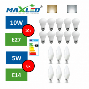 Paket 16 energijsko varčnih LED sijalk + DARILO