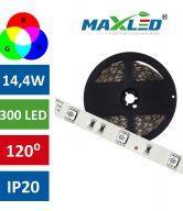 LED trak RGB 300LED 14,4W IP20 max-led