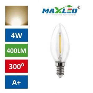 LED žarnica - sijalka E14 4W (35W) fillament toplo bela 3000K
