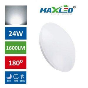 LED plafoniera 24W s senzorjem gibanja nevtralno bela