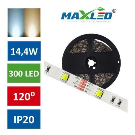 LED trak MULTI CW/WW 14,4W/m 300 LED IP20 5m