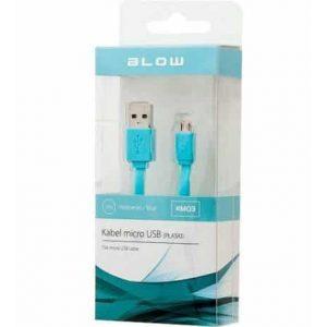 Micro USB kabel ploski BLOW moder