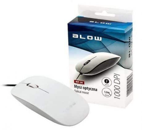 Računalniška optična USB miška BLOW bela