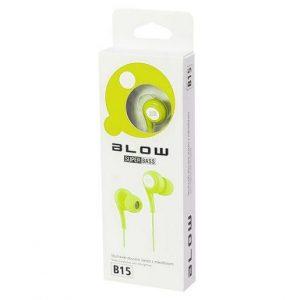 Slušalke z mikrofonom za prostoročno telefoniranje BLOW travnato zelene
