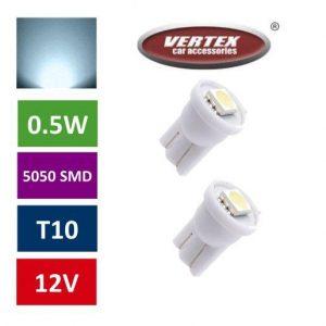 Avto LED žarnica (sijalka) T10 1 SMD 5050 0,5W 2 kosa