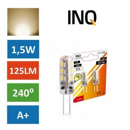 LED žarnica - sijalka G4 1,5W (14W) 12V toplo bela 3000K 2 kosa
