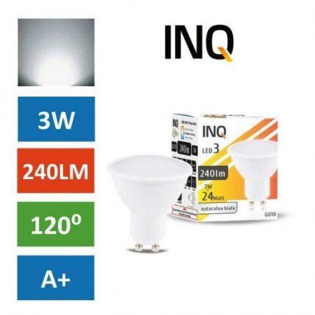 LED žarnica - sijalka GU10 3W (24W) nevtralno bela 4000K