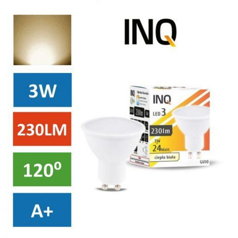 LED žarnica - sijalka GU10 3W (24W) toplo bela 3000K