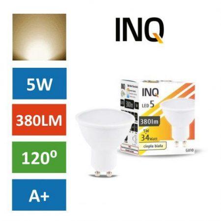 LED žarnica - sijalka GU10 5W (34W) toplo bela 3000K